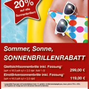 Don't miss … Sommeraktion bei Optik Michel!